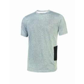 T-Shirt jersey di polycotone Road U-Power. Unisex - GREY SILVER