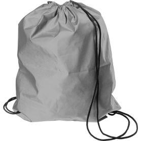 Bag backpack, highly reflective, drawstring closure, synthetic fiber.