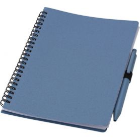 Wheat fiber notebook/Notes A5 with pen. 70 sheets and blue refil pens