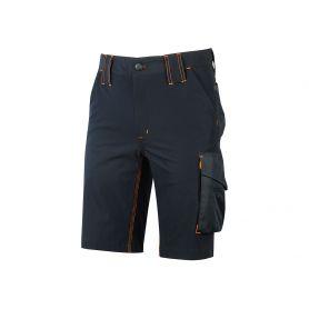 Pantalone da lavoro Bermuda. Modello Mercury. U-Power 4 way stretch. DEEP BLUE