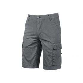 Pantalon Bermuda Cargo en toile de coton extensible. Modèle Summer. U-Power. FER GRIS