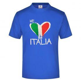 """T-Shirt ragazzo Nazionale """"we love Italia"""" e l'inno nazionale sul retro. Forza Azzurri!"""
