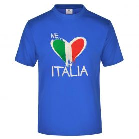 """T-Shirt Bimbo Nazionale """"we love Italia"""" e l'inno nazionale sul retro. Forza Azzurri!"""