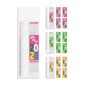 """Calendario 2022 """"Silhouette Fluo"""" 14,5 x 47 cm da muro"""