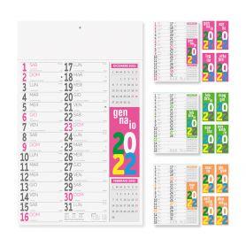 "Calendar 2022 ""Dutch Fluo"" 29 x 47 cm wall"