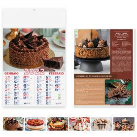 """Calendar 2022 """"Sweets"""" 30 x 47.5 cm wall. Illustrated 6 sheets"""