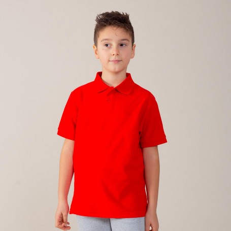 Polo Evolution Kids S/S Short Sleeve Black Spider