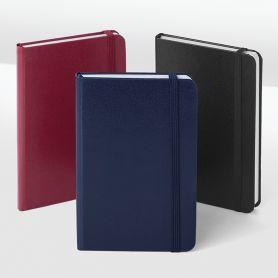 des Notes/Notebook, 9 x 14 cm, intérieur-carreaux avec élastique. Personnalisable avec votre logo!