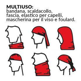 Bandana Multiuso, scaldacollo, fascia, elastico per capelli, mascherina, ecc.