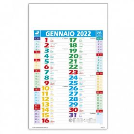 "Calendar 2022 ""Dutch Multicolor"" 28.8 x 47 cm wall."