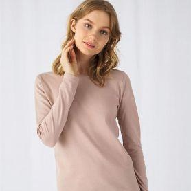 T-Shirt B&C E150 LSL. 100% Cotton, long sleeves. Woman. B&C