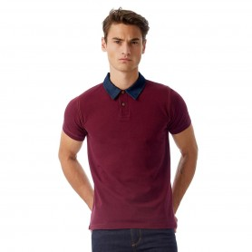 Polo Forward Unisex collar denim Short Sleeve B&C