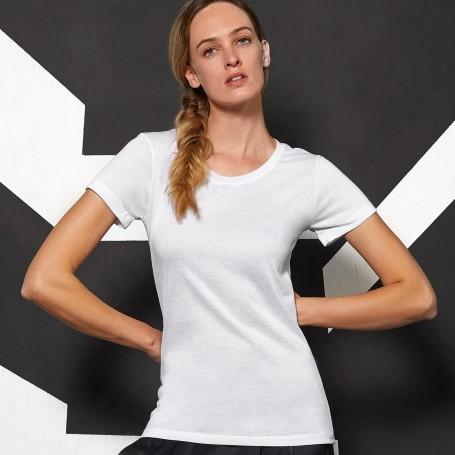 T-Shirt Sublimation/Femmes Effet Coton À Manches Courtes B&C