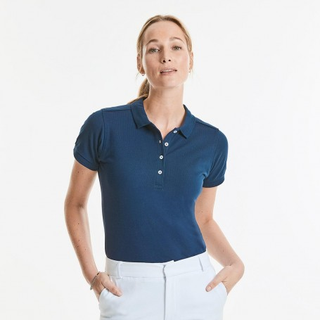 Polo Stretch Women's Body Fit Short Sleeve Russel