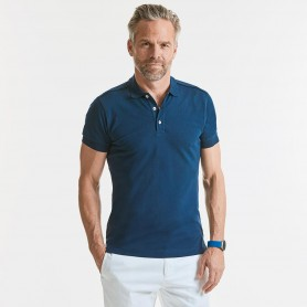 Polo Stretch Polo Unisex Body Fit Manica Corta Russel
