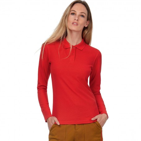 Polo Long Sleeve for Woman in 100% cotton B&C