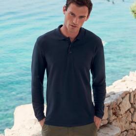 Polo Premium Long Sleeve Manica Lunga Fruit Of The Loom