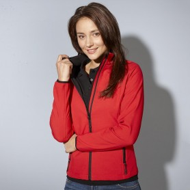 Softshell jacket 2 layer microfleece inner Woman Jacket James & Nicholson