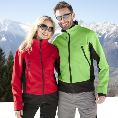 Activity Softshell Jacket, interno micropile, antivendo, foro pollice Result