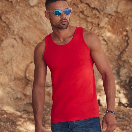 Tank Top Valueweight Athletic Vest Unisex 100% Cotton Fruit Of The Loom