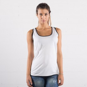 Sporty Tank Top Ultra Tech Contrast Running Woman StarWorld