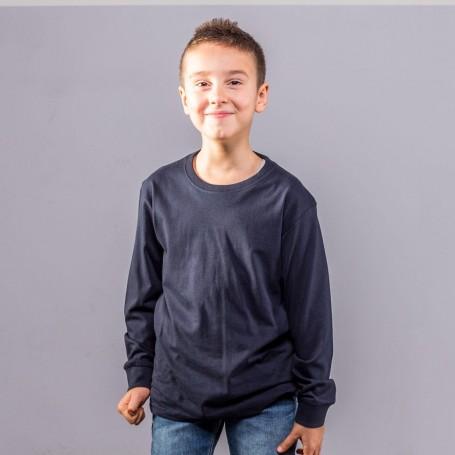 T-Shirt Evolution T Kids LS Manica Lunga Black Spider