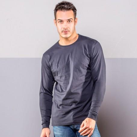 T-Shirt Evolution T-LS-Unisexe à Manches Longues en Noir de Spider