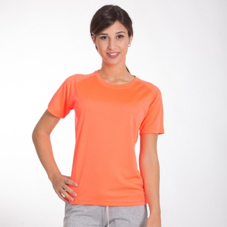 T-Shirt de Sport Run T des Femmes à Manches Courtes Araignée Noire