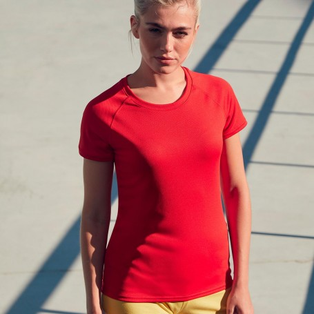 T-Shirt Sport Performance T Donna Manica Corta Fruit Of The Loom