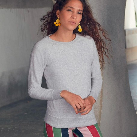 Felpa Lightweight Raglan Sweat Donna Fruit Of The Loom