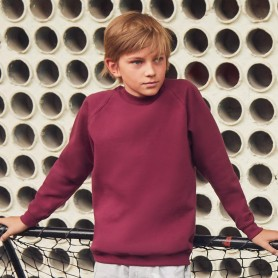 Felpa Kids Classic Raglan Sweat Bimbo Fruit Of The Loom
