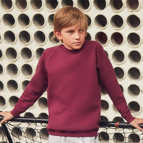 Sweat-Shirt Kids Classic Raglan Sweat Bébé, Fruit Of The Loom