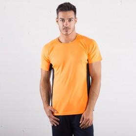 T-Shirt de Sport de l'Air Tee avec bandes de contraste de la Sprintex