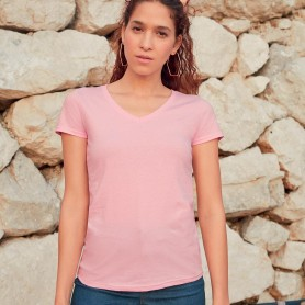 T-Shirt Valueweight V-Neck T Donna collo a V Fruit Of The Loom