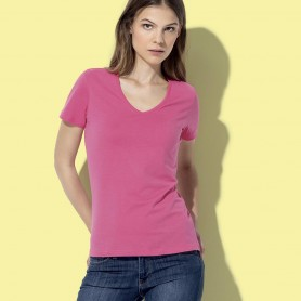 T-Shirt Classic-T V-Neck Women's V-neck Fruit Of The Loom
