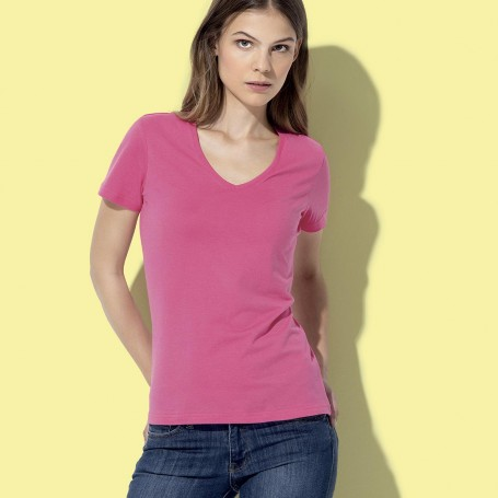 T-Shirt Classic-T V-Neck Donna collo a V Fruit Of The Loom