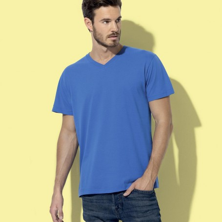T-Shirt Classique-T Col V Unisexe col en V, Fruit Of The Loom