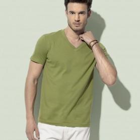 T-Shirt James Organic V-Neckk Unisex collo a V Fruit Of The Loom