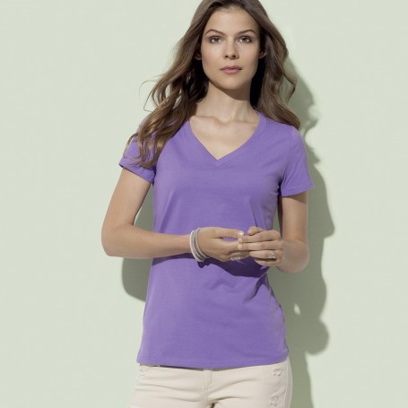 T-Shirt James Organic V-Neckk Women's V-neck Fruit Of The Loom