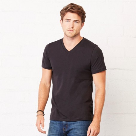 T-Shirt Jersey Short Sleeve Deep V-Neck Tee Unisex V-neck Bella + Canvas