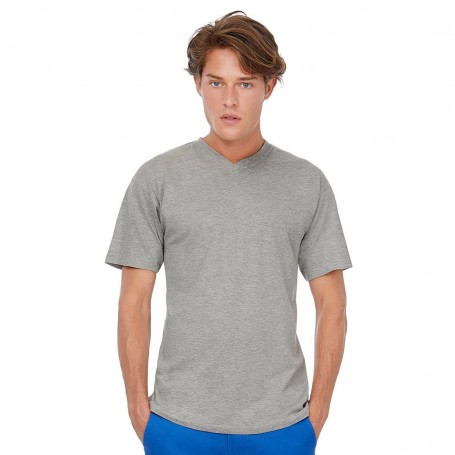 T-Shirt Exact V-Neck 100% Cotton V-neck Unisex B&C