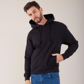 Sweatshirt with pocket hooded Maxi Print Hooded Unisex Black Spider