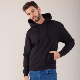 Sweatshirt with pocket hooded Maxi Print Hooded Unisex Black Spider