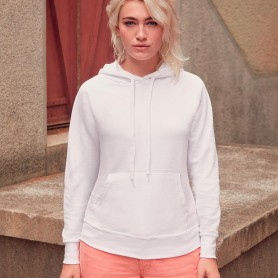 Felpa con tasca a cappuccio Lightweight Hooded Sweat Donna Fruit Of The Loom