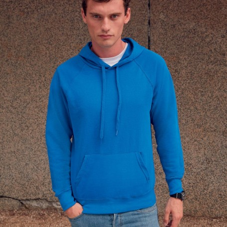 Felpa con tasca a cappuccio Lightweight Hooded Sweat Unisex Fruit Of The Loom