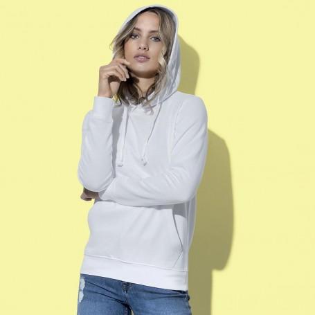 Felpa con tasca a cappuccio Hooded Sweatshirt Donna Stedman