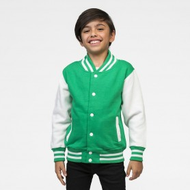 Felpa Varsity Jacket Collage bicolore con bottini Bambino Just Hoods'