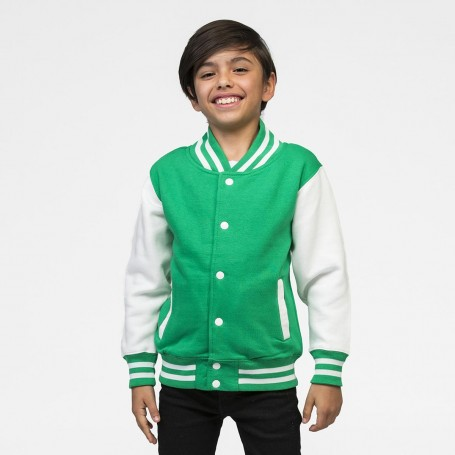 Felpa Varsity Jacket Collage bicolore con bottini Bambino Just Hoods'