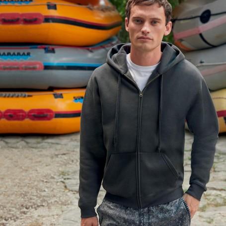 Sweatshirt Premium Hooded Sweat Jacket Zip Hood Unisex Fruit Of The Loom