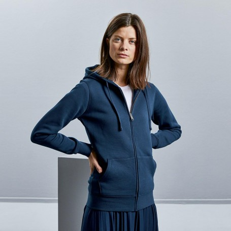 Felpa con tasca a cappuccio Sweat Authentic Zipped Hood p/Hooded W Donna Russel